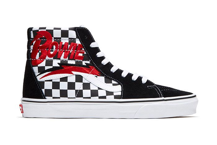 David Bowie Vans Collaboration Capsule Collection Sk8 Hi Right