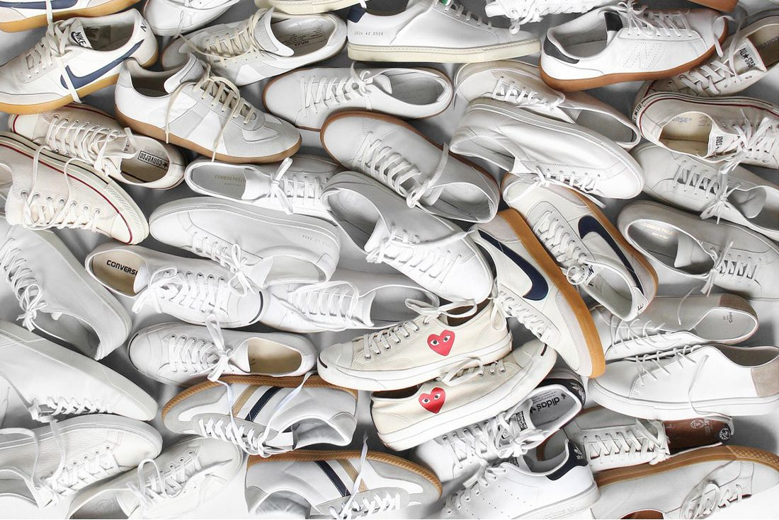 white sneaker collection