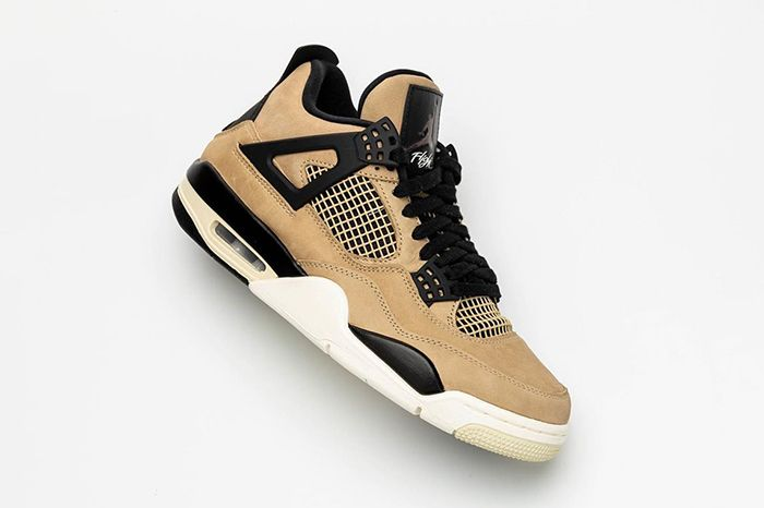 Air Jordan 4 Wmns Tan Black White New Colourway First Look Leak 2019 Release Date Lateral