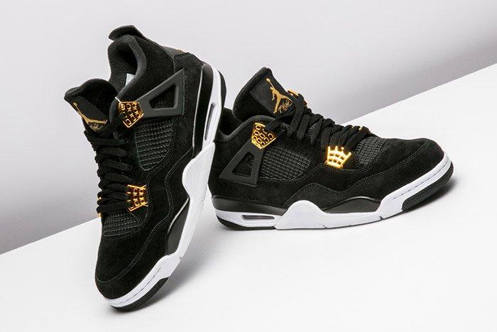Air Jordan 4 Royalty Black Gold 6