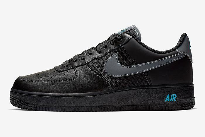 Nike Air Force 1 Black Blue 1