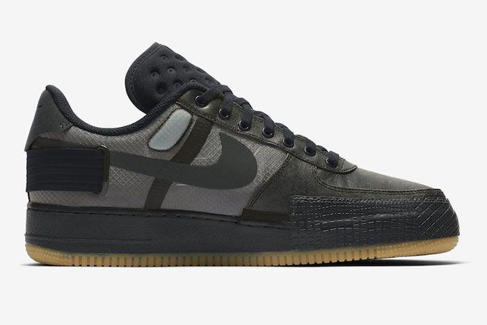 Nike Air Force 1 Black Gum Right