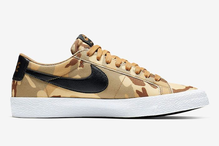 Nike Sb Zoom Blazer Low Canvas Desert Camo Side3