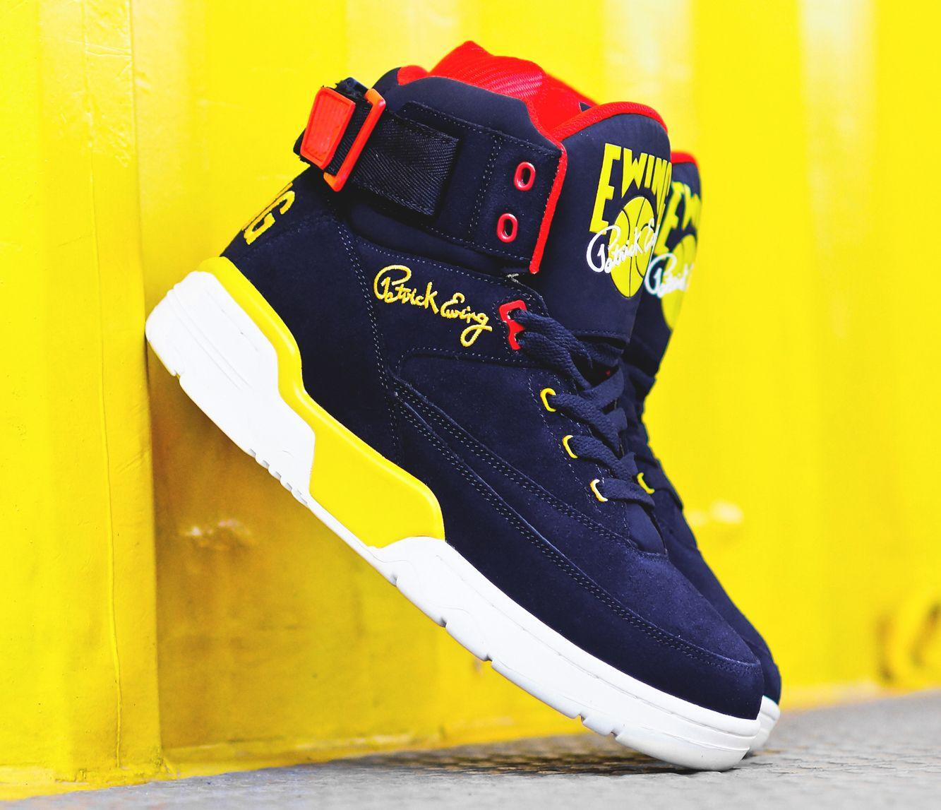 Ewing33 Hi Navy Yellow Red
