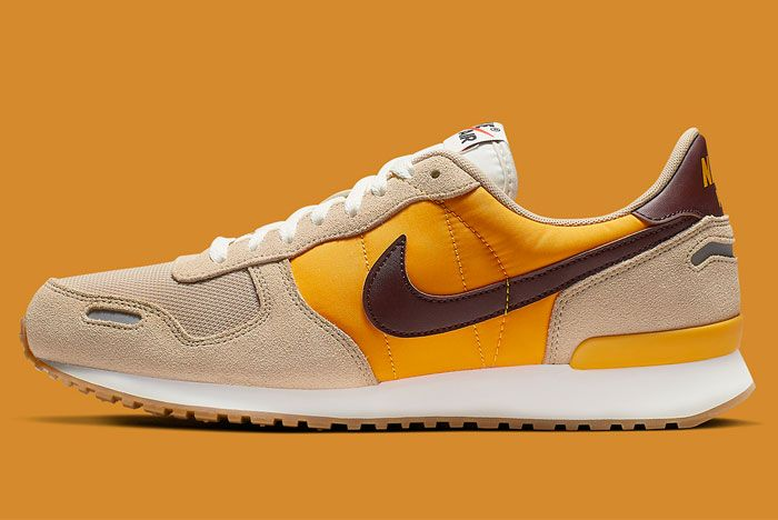 Nike Air Vortex Brown Yellow Left