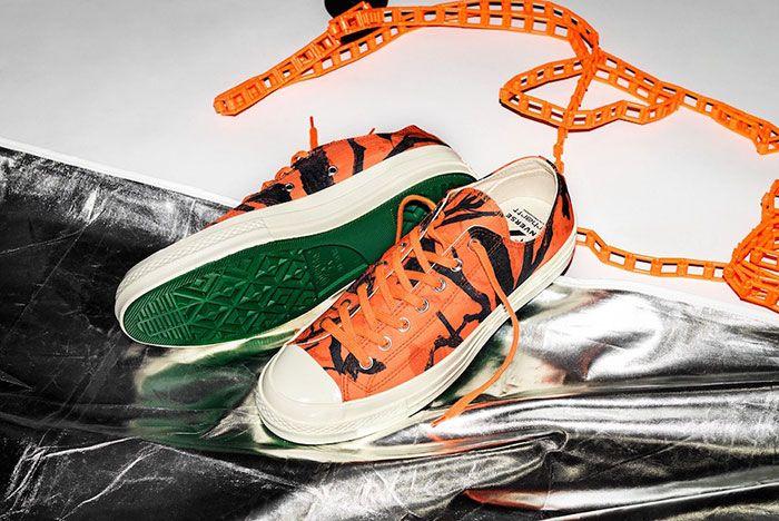 Carhartt Wip Converse Chuck 70 Orange Tree Camo Top Shot