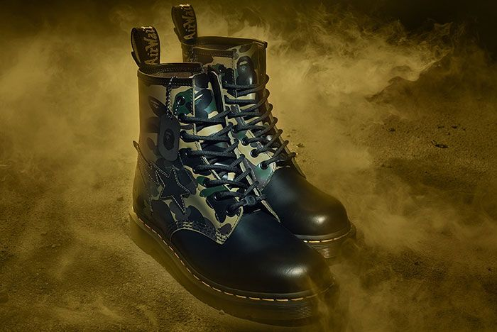 Bape Dr Martens 1460 Remastered Three Quarter Side Shot