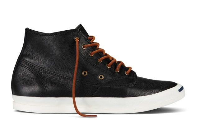 Converse Jack Purcell Jeffrey Leather Mid Sideview1
