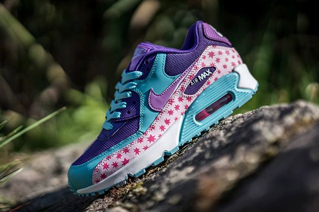 Nike Air Max 90 Gs Playful Stars For Kids 02