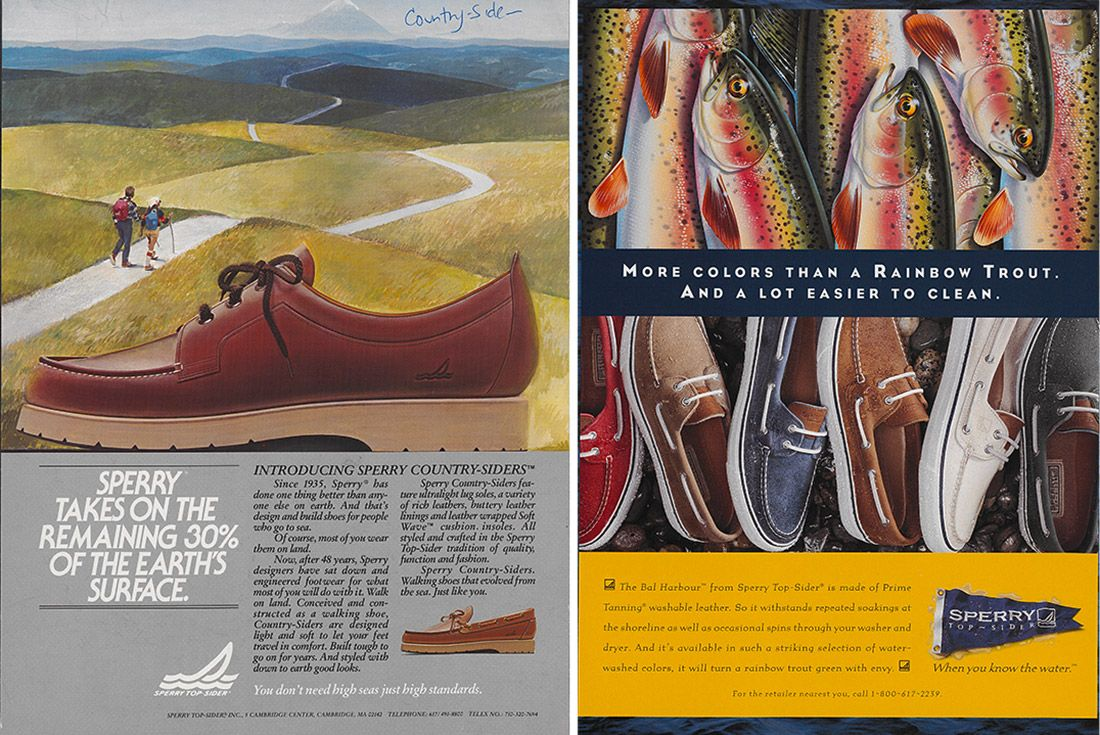 History Sperry Top Sider Advertisement 83 90