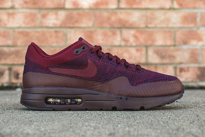 Nike Air Max 1 Ultra Flyknit Grand Purple Team Red 1