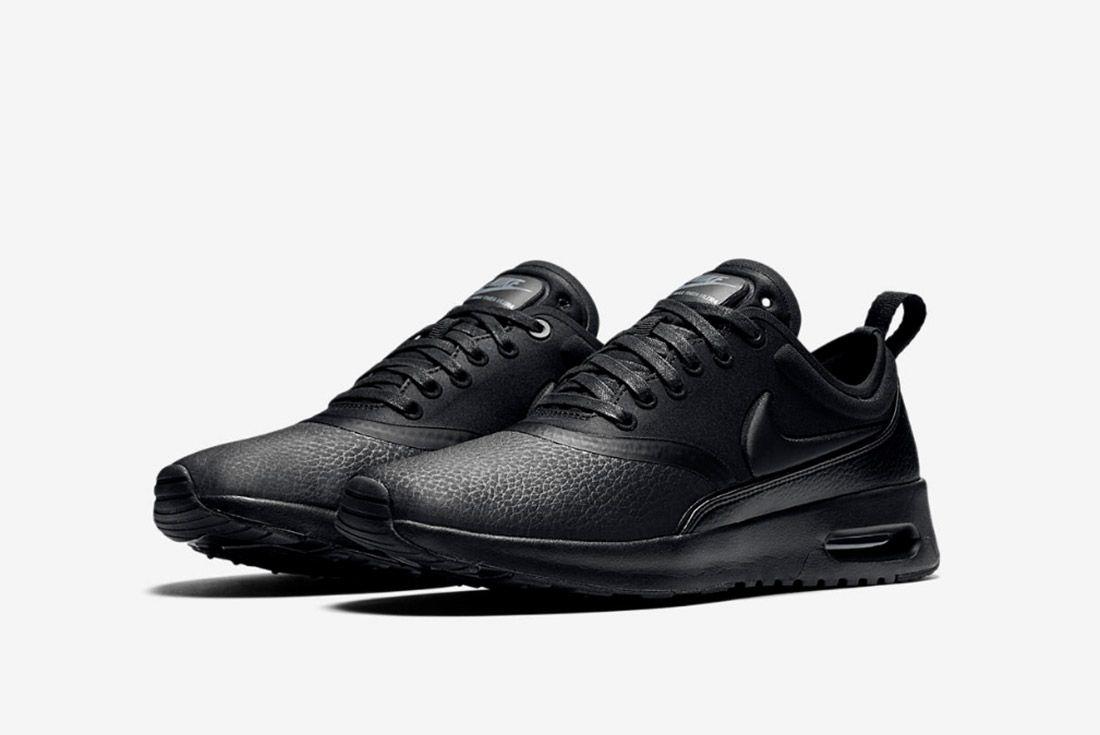 Nike Air Max Thea Premium Womens Beautiful Powerful Black 4