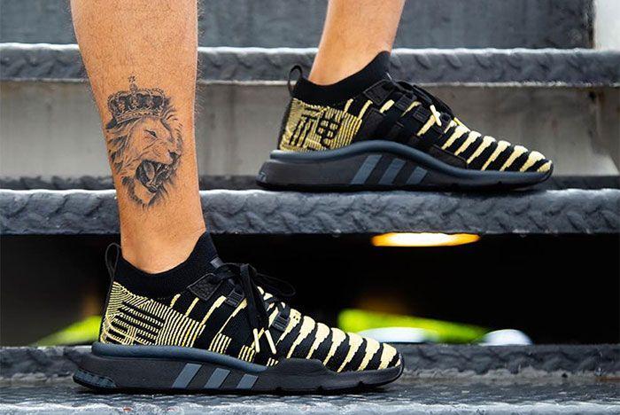 Shenron Adidas Dragon Ball Z Eqt Support Mid Adv Black Gold 5 Sneaker Freaker
