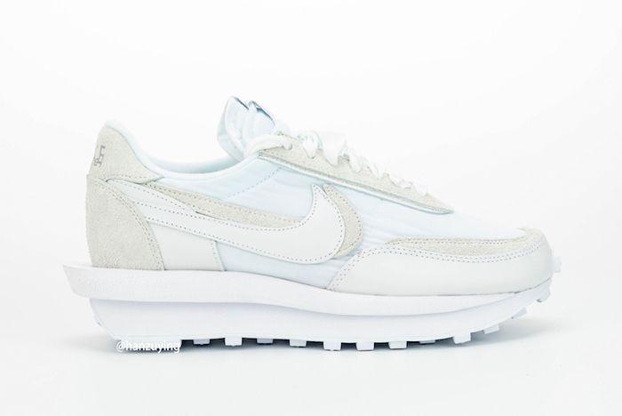 Sacai X Nike Ldwaffle White Lateral Inside