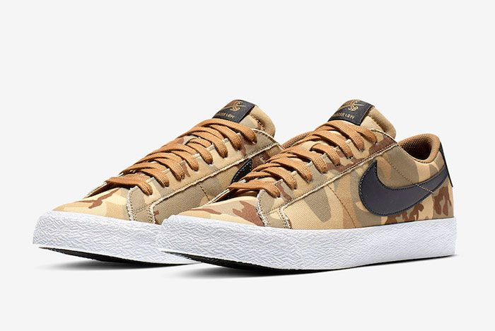 Nike Sb Zoom Blazer Low Canvas Desert Camo Side1