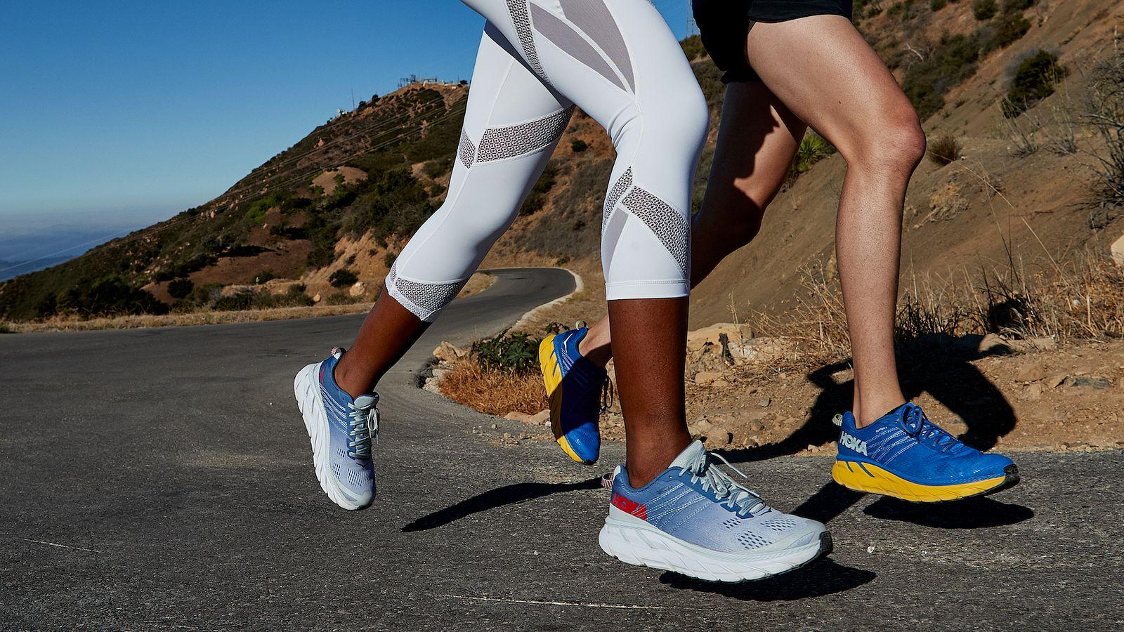 hoka one one runners pair