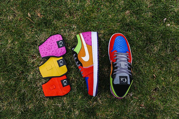 Ceeze Air Jordan 1 Viotech Custom Laid Out