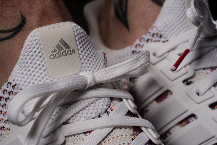 Adidas Ultra Boost White Red Multicolour On Feet 9