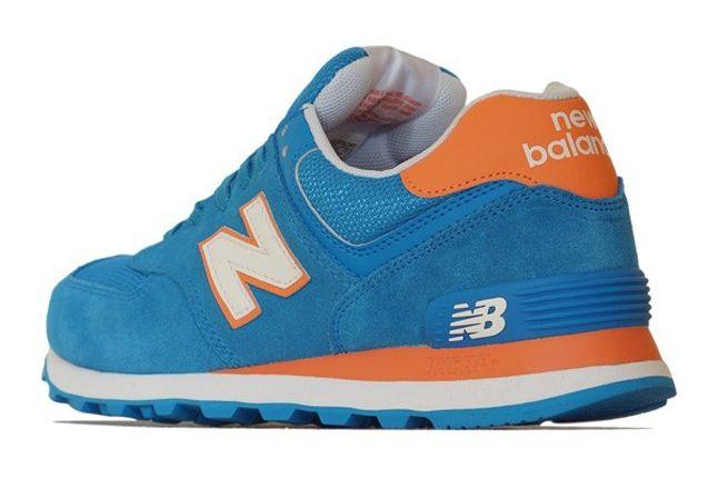 New Balance 574 Blue Orange Reverse 1