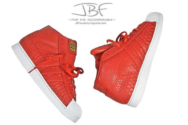 Jbf Customs Red Python Adidas Promodel 7 1