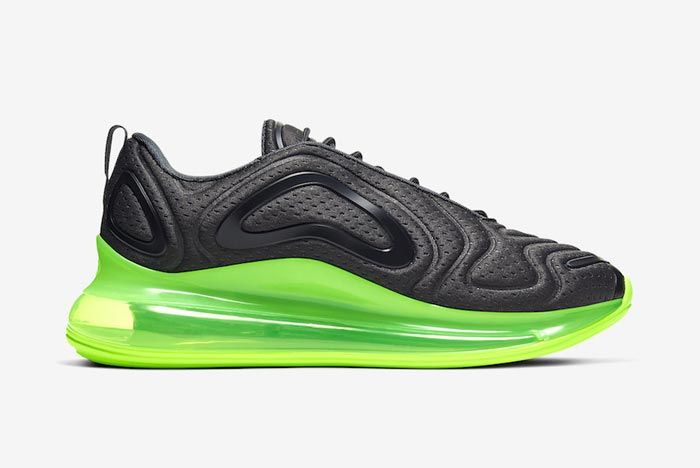 Nike Air Max 720 Black Volt Medial