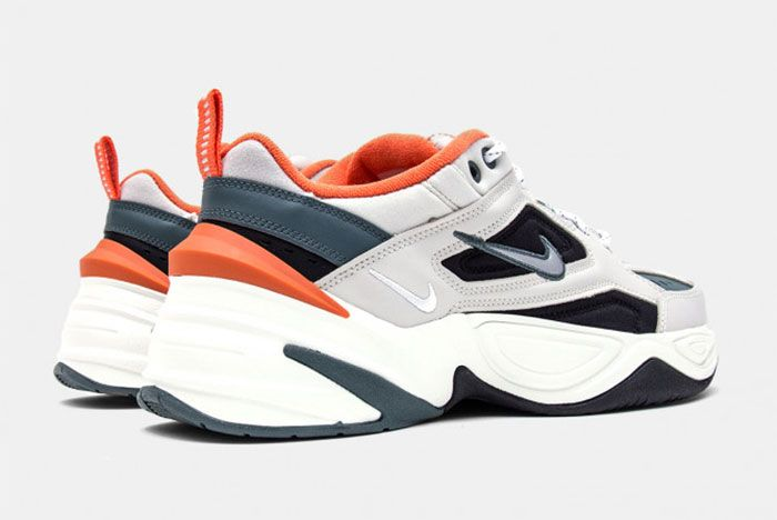 Nike M2 K Tekno Light Bone And Burnt Orange Heel Angle Shot 3