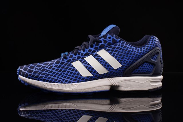 Adidas Zx Flux Techfit Blue Snake 3