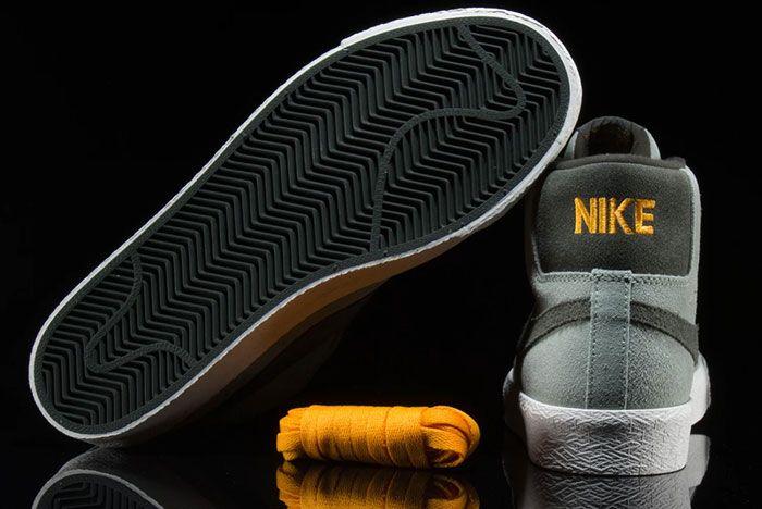 Nike Sb Blazer Mid Jade Horizon 864349 301 Rear Laces