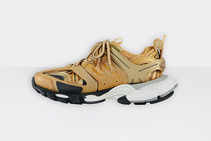 Balenciaga Track 2 Gold White Black Medial
