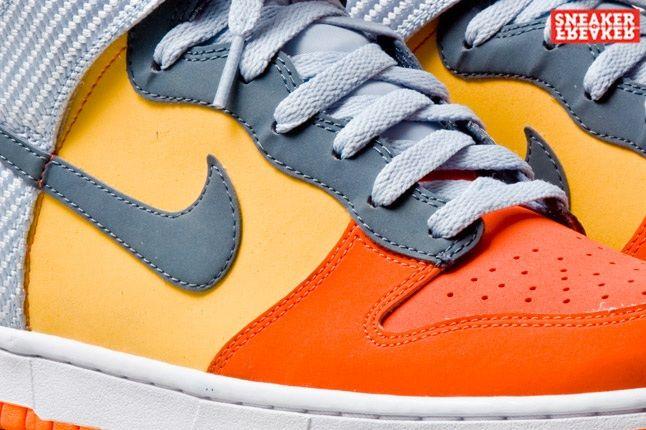 Nike Dunk Hi Team Orange Total Orange Midfoot Detail