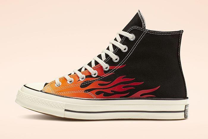 Converse Chuck 70 Flames Black High Medial Side Shot