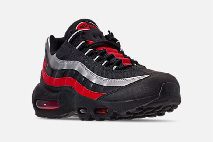 Nike Air Max 95 Black Red Silver Right 2