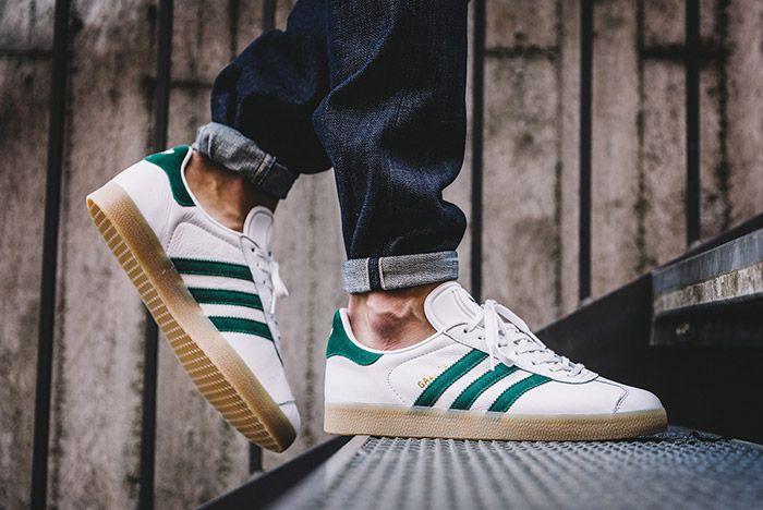 Adidas Gazelle White Green Gum 2