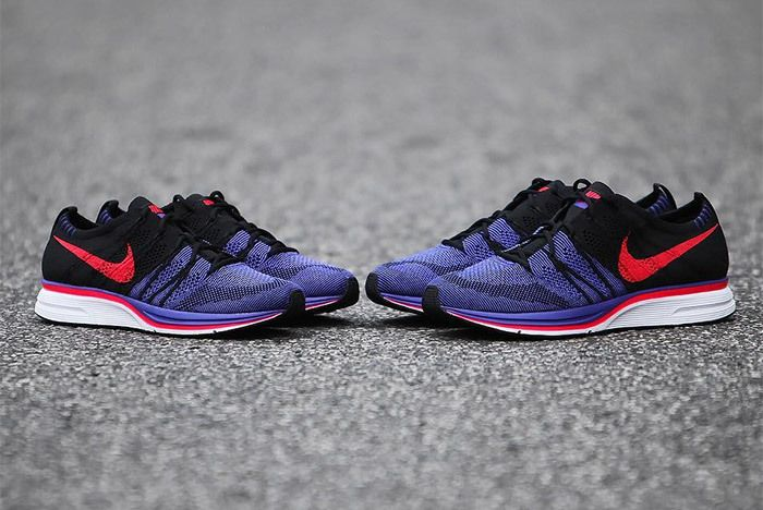 Nike Flyknit Trainer Red Purple Black 1
