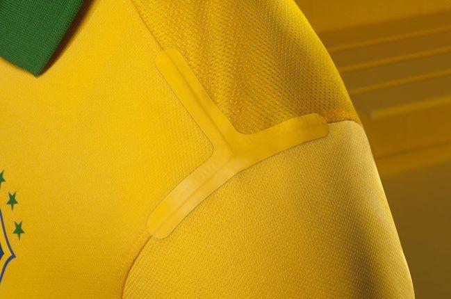 Nike Football Brazil Home Jersey Shoulder Pad 1