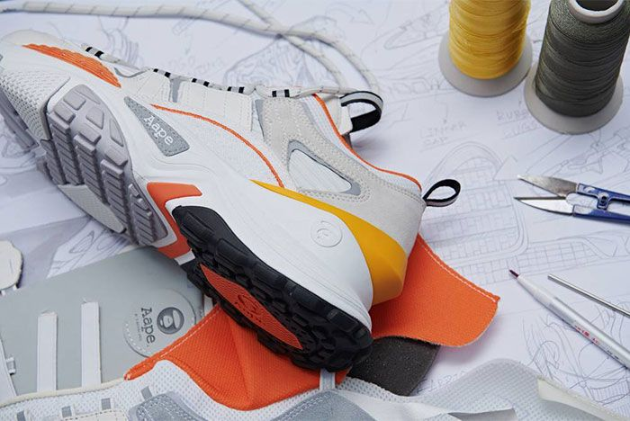 Aape Dimension White Orange Heel