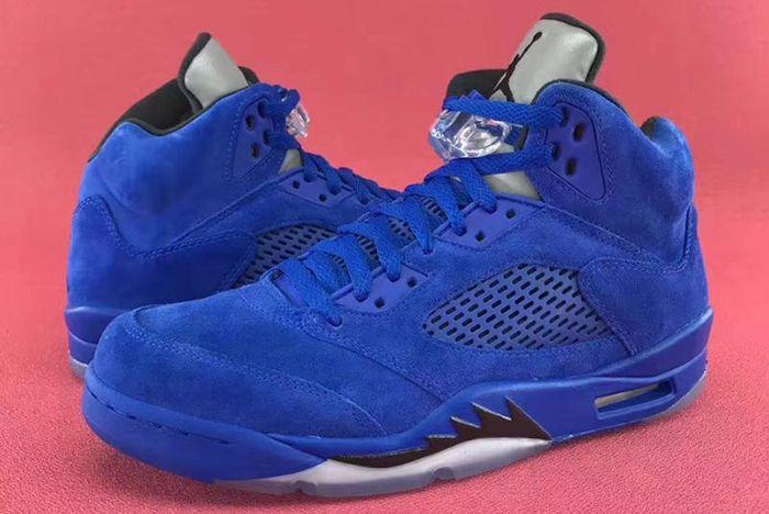 Air Jordan 5 Blue Suede16