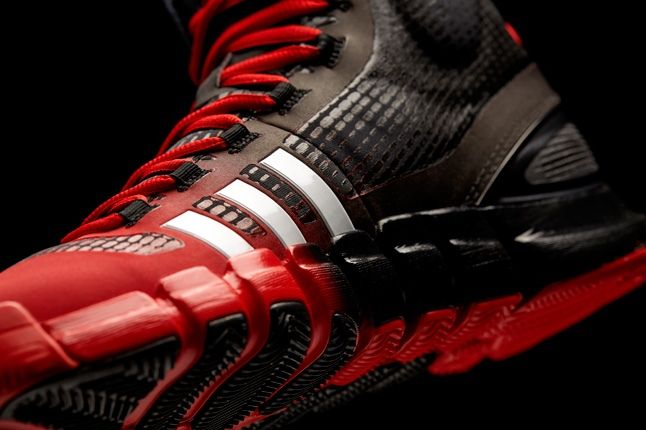 Adidas Crazyquick Black Redwhite Midfoot Detail 1