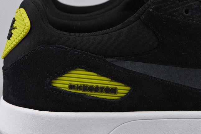 Nike Sb Koston Heritage Black Anthracite Atomic Green Side Details 1