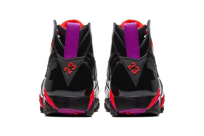 Air Jordan 7 Wmns Black Gloss 313358 006 Release Date Heel