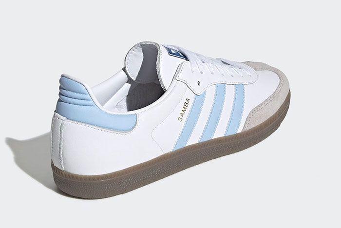 Adidas Samba Blue White Heel 2