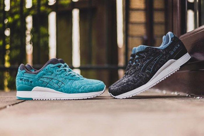 Asics Gel Lyte Iii Marble Kingfisher Blue Black 1