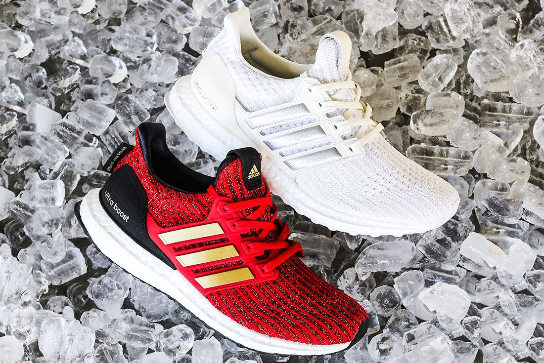 Game Of Thrones Ultra Boost White And Red Gold Side