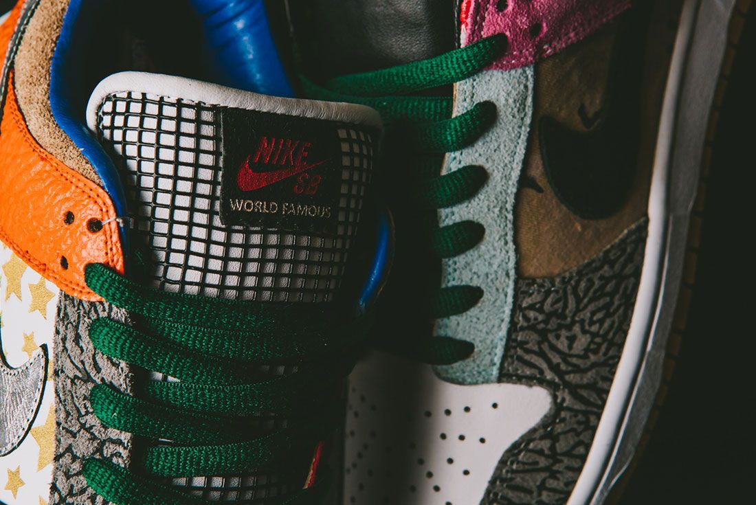 Bespokeind Nike Sb Dunk Low Pro What The Supreme Up Close5
