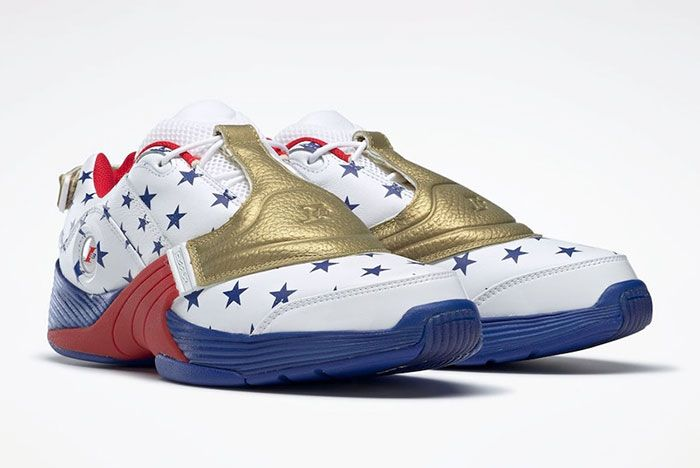 Reebok Answer V 5 Low Usa Olympics Fw7486 Front Angle