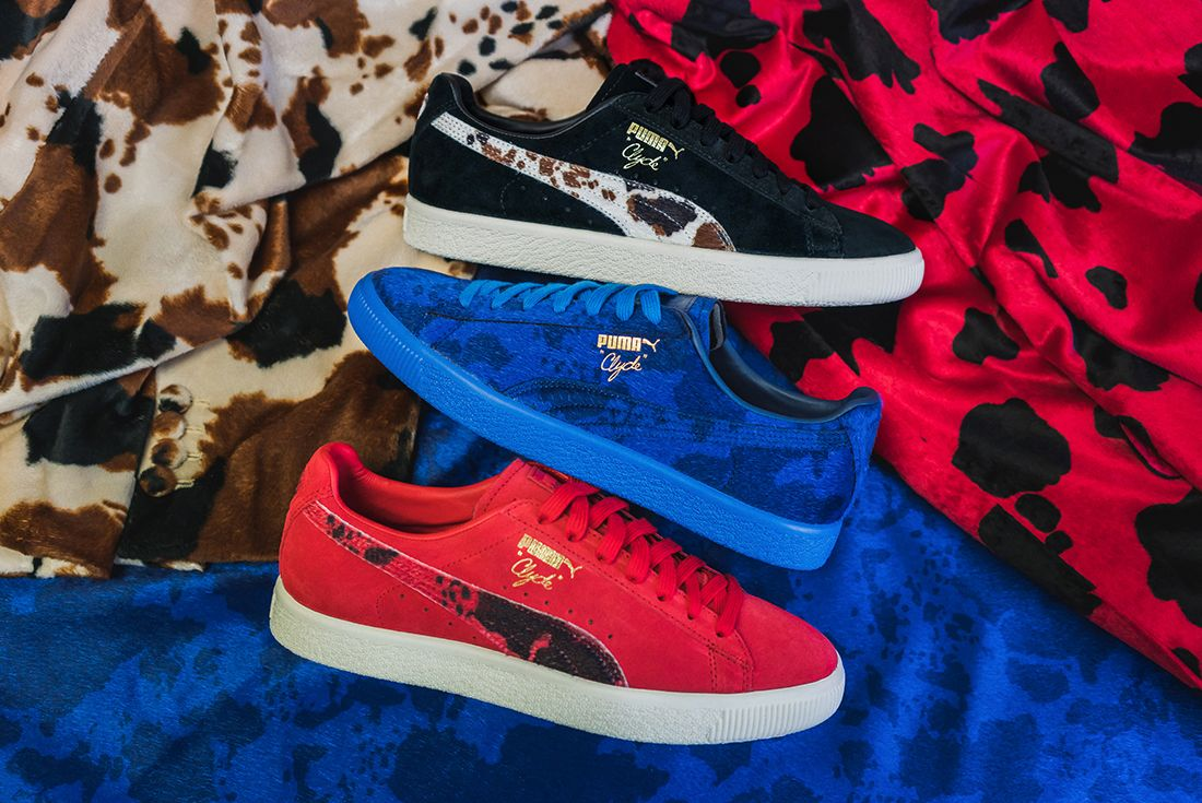 Packer X Puma Clyde Cow Suits Pack9