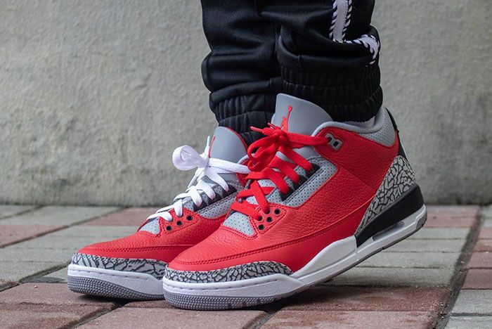 Air Jordan 3 Cement Red Fire Red All Star On Foot6