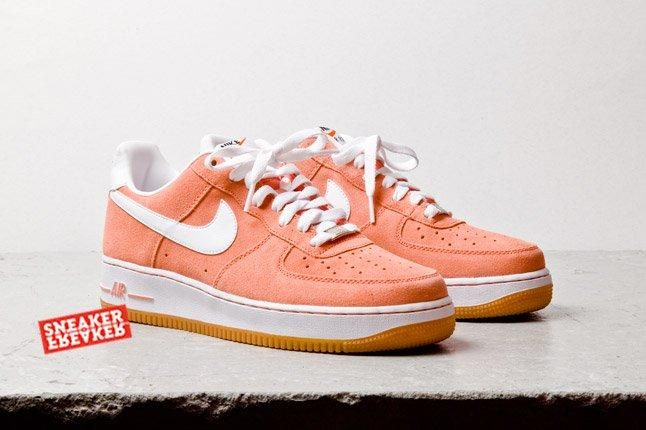 Nike Air Force 1 Low Suede Salmon Toe Quarter