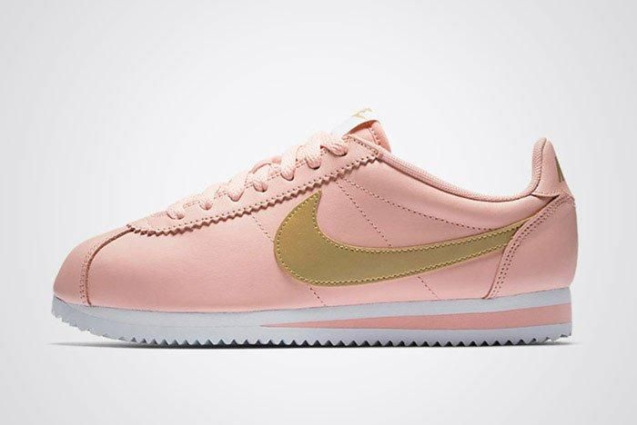 Nike Classic Cortez Pinkarctic Orange Metallic Gold Womens Thumb