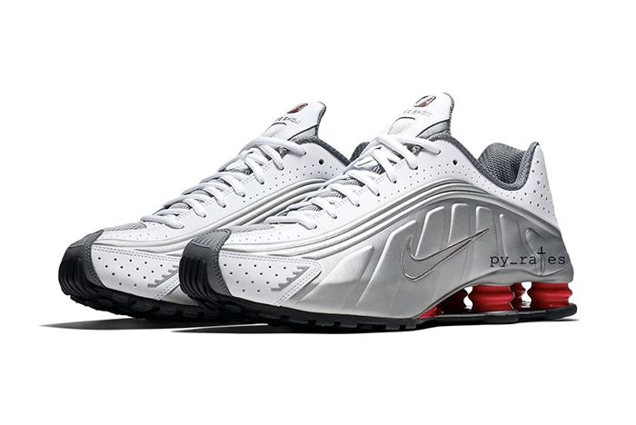 Nike Shox R4 White Comet Red Black Silver 1